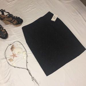 Halogen black speckled white skirt